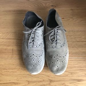 Cole Haan Zerogrand Wingtip Oxford, Grey Suede